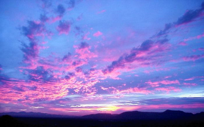 how a sunset can be violet or indigo sky lights