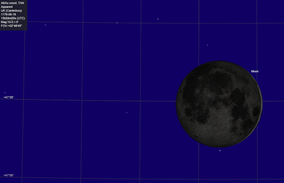 The Moon on June 18, 1178.