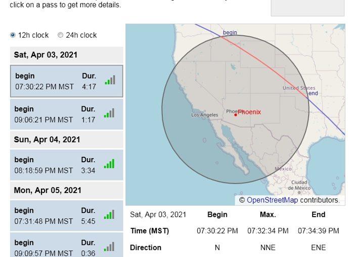 ISS Over Arizona